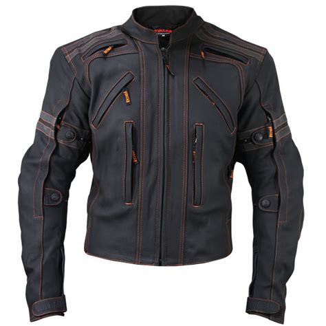 motorcycle jackets for men with armor vulcan men s vtz 910 street motorcycle jacket leatherup com
