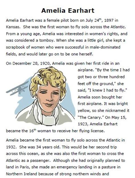 amelia earhart biography for students amelia earhart google and free printable on pinterest