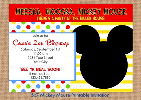 baby mickey mouse shower invitations cute on mickey mouse baby