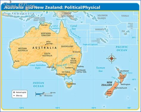 map of australia and nz australia and new zealand map toursmaps