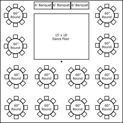 wedding reception layout generator 40 x 40 w round tables buffet dance floor super