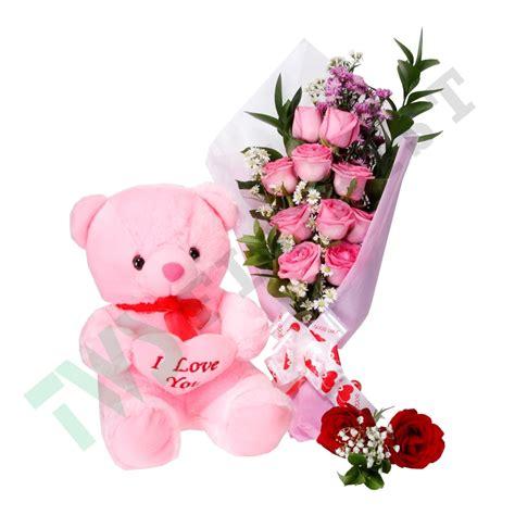 Keranjang Bunga Dan Boneka Wisudaulangtahunwedding hadiah buket bunga dan boneka di jakarta toko bunga karangan murah