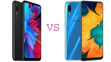 Samsung A10 Redmi 7 by Xiaomi Redmi Note 7 Vs Samsung Galaxy A30 Battle Of The New Budget Phones Tech Hindustan Times