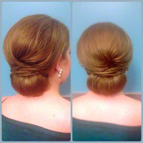 50s updo dallas texas chignon wedding bride bridesmaids hair updo clean