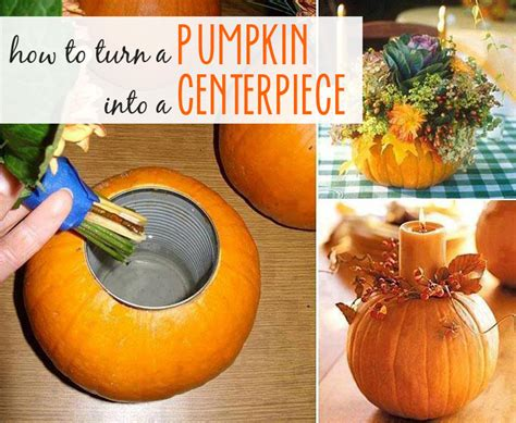 how to make a centerpiece how to make a pumpkin vase centerpiece blog noshon it