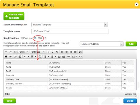 Customizing The Email Notification Content 123formbuilder Html Email Notification Template