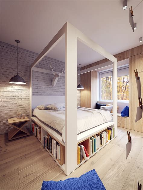 hohes bett holz a 60s inspired apartment with a creative layout and upbeat