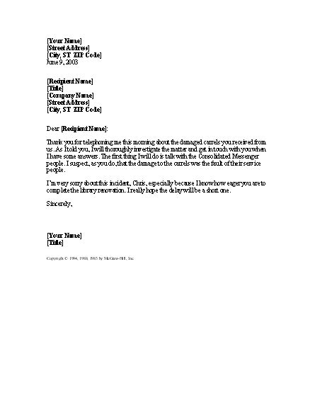 Access Letter Of Demand Apology Letter For Damaged Shipment For Microsoft Sle Access