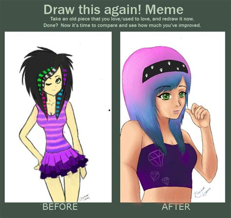 Emo Hair Meme - draw this again meme scene girl by 2stich2 on deviantart