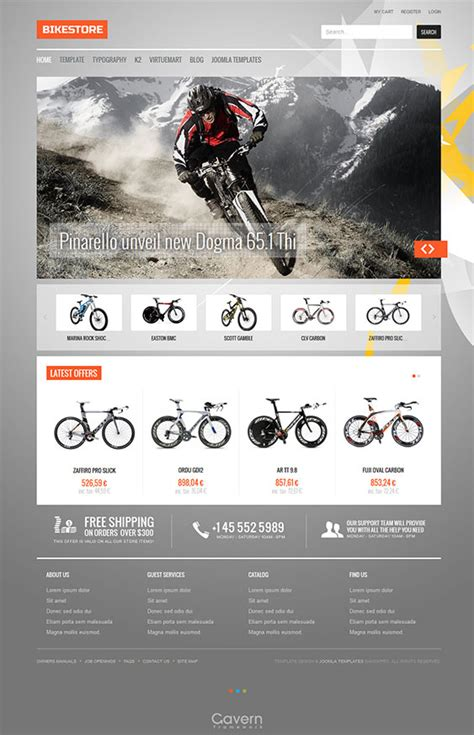 template joomla free ecommerce bike store awesome e commerce joomla template for online
