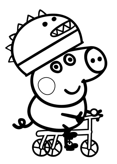 Nickelodeon Dibujos De Peppa Pig Colorear George Andando The Pig Coloring Pages