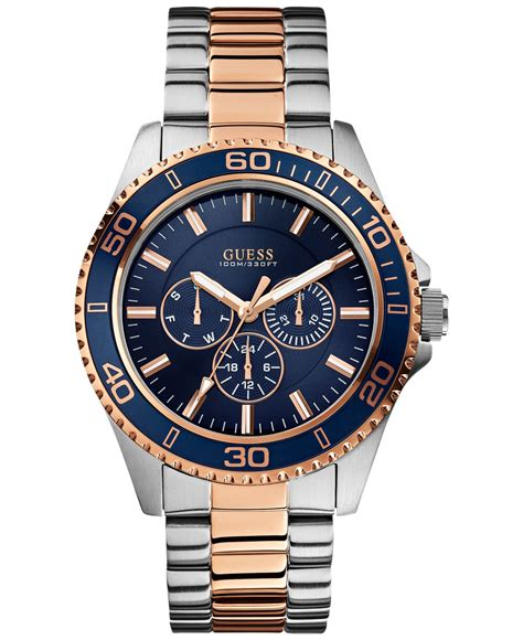 Guess Merica Rosegold Limited guess s two tone bracelet 45mm u0172g3 in metallic for lyst