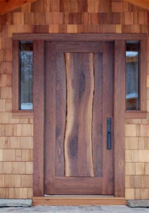 Handmade Doors - custom walnut entry door architecture and inside