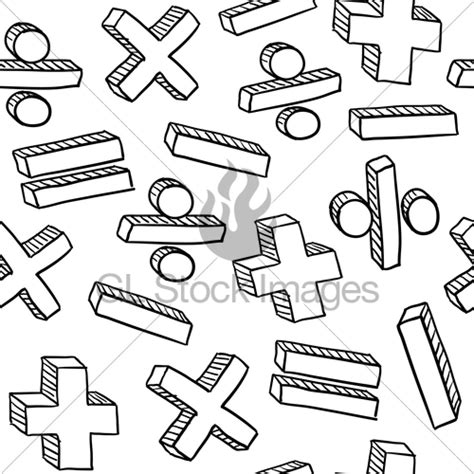 doodle maths sign in seamless math symbols vector background 183 gl stock images