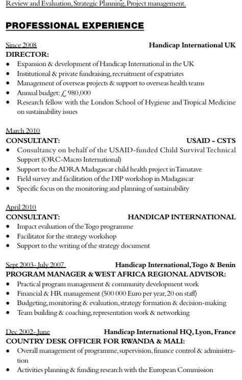 Lettre De Motivation Ecole Humanitaire Exemple De Cv En Anglais Comment 233 Pour Un Consultant Dans L Humanitaire L Etudiant