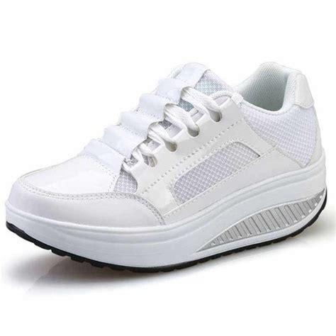 white pleated leather rocker bottom shoe sneaker womens