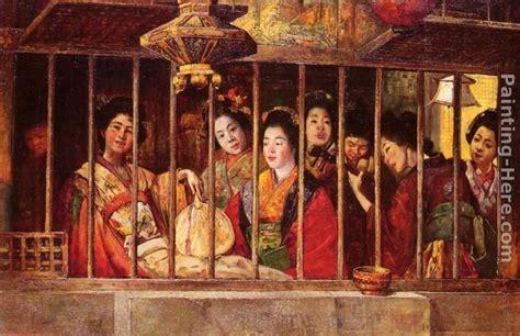 the geisha house gyula tornai the geisha house painting best paintings for sale