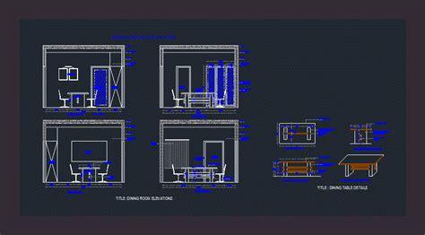 dining room elevation dwg elevation  autocad designs cad
