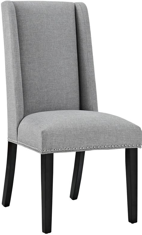 gray upholstered dining chairs baron light gray upholstered dining chair from renegade