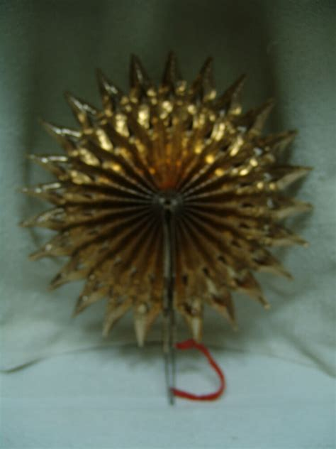 feather christmas tree topper antique fan fold up gold feather tree topper w germanyfree ship ebay