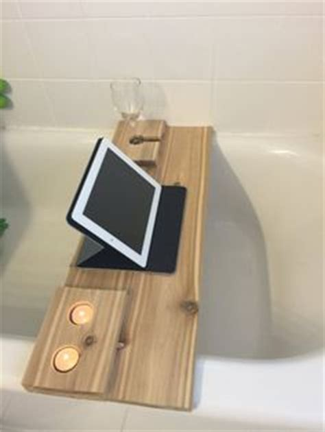 bathtub ipad holder live edge walnut wood bath tray bath caddy with tablet