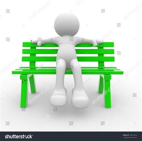 person on bench 3d people man person sitting on the bench stock photo