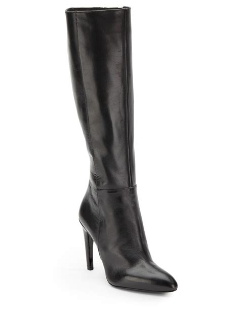 via spiga bethany knee high leather boots in black lyst