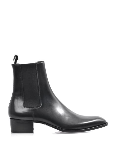laurent mens chelsea boots laurent leather chelsea boots in black for lyst