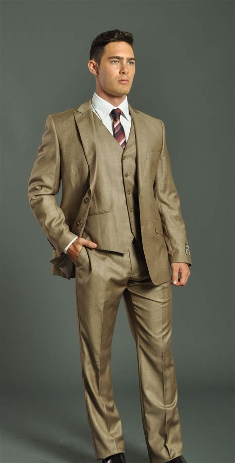 men s men s two button beige slim fit suit men s suits formal