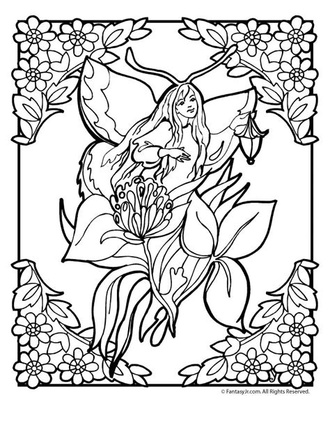 free coloring pages of flower fairy f