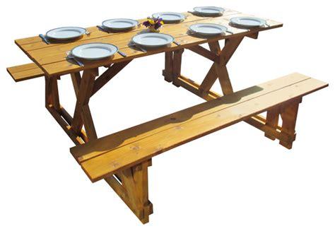 cedar farmhouse table cedar picnic table farmhouse outdoor dining tables