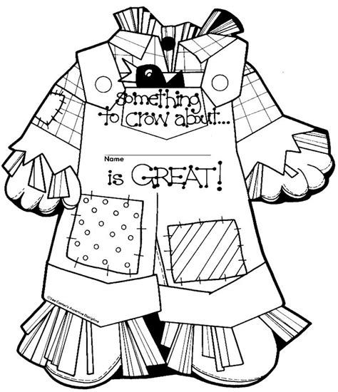 free printable scarecrow template scarecrows coloring and coloring pages on