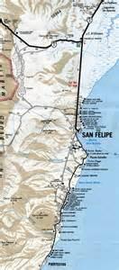 san felipe baja california map san felipe area map baja california mx
