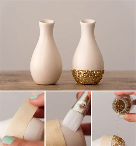 Mini Vases For Wedding by Diy Glitter And Pastel Mini Vase Decorations Confetti Co Uk