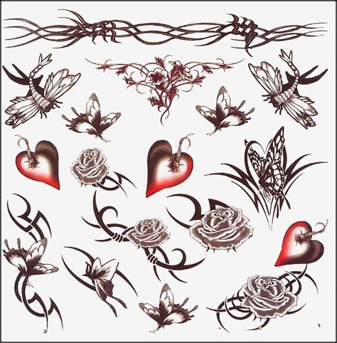 tribal barbed wire tattoo designs barbed temporary sheet hearts temporary
