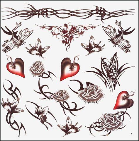 barbed heart temporary tattoo sheet hearts temporary