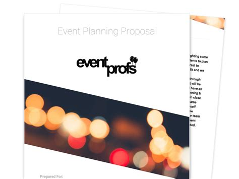 layout of event proposal free business proposal templates