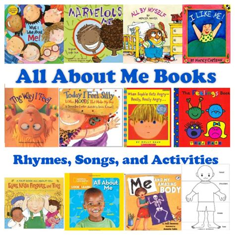and me books all about me books rhymes songs and activities kidssoup