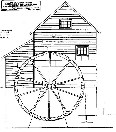 water wheel coloring page how to draw water mill