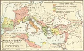 map of the roman empire in 44 b c e