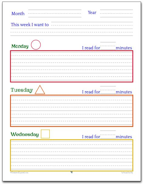 printable children s daily planner planner printables for kids