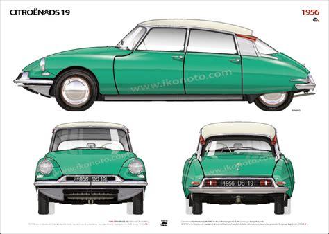 Citroen Ds 19 by 1956 Citro 203 N Ds 19 Ikonoto