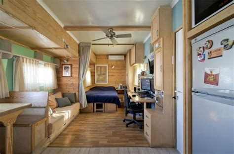 truck transformed into amazing green mobile home joseph