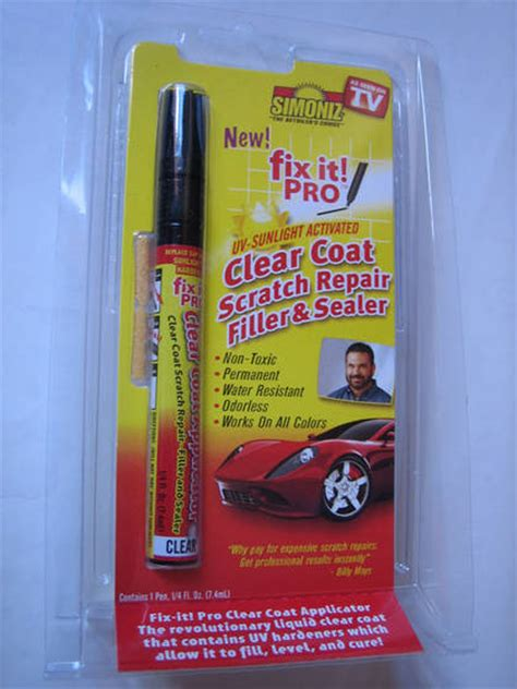 Fix It Pro Limited simoniz fix it pro clear coat scratch repair filler