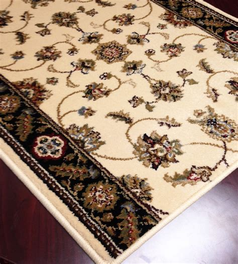 black runner rugs for hallway caspian 8265ibk kazmir ivory black carpet hallway and stair runner 33 quot x 23 ft