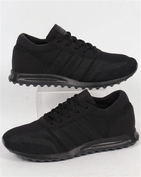adidas triple black adidas los angeles trainers triple black originals mens retro