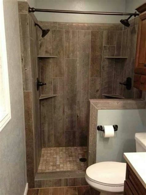 wood tile shower rustic wood tile bathroom home decorations