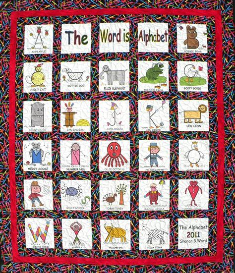 Letter Quilt Pattern The Word Is Alphabet Quilt Pattern Quilts Alphabet