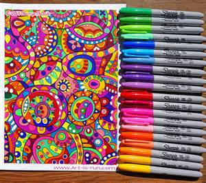 colored sharpies a coloring page done entirely with sharpies learn about