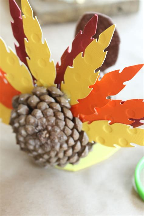 pinecone turkey craft turkey craft for pine cone turkeys crafts unleashed